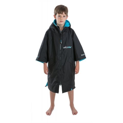 Dryrobe Advance Kids S/Sleeve Age 5 to 9 Black/Blue