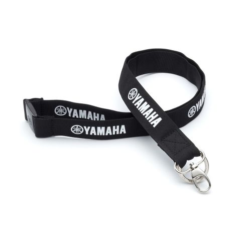 Genuine Yamaha Black and White Lanyard